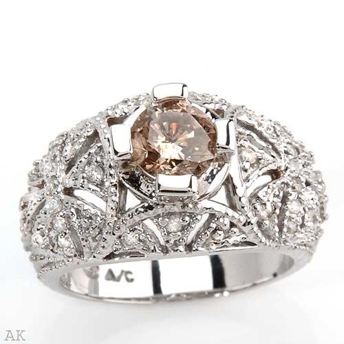 عکس حلقه عروس با نگین الماس
