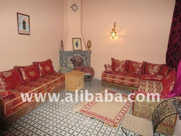 maison marocaine traditionnelle magnifique r nov e et meubl e h tels id du produit 121724060. Black Bedroom Furniture Sets. Home Design Ideas