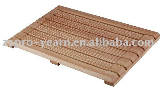 rectangle en bois tapis de bain tapis de salle de bain id. Black Bedroom Furniture Sets. Home Design Ideas