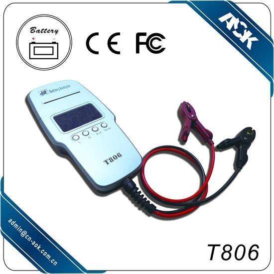 testeur de batterie pour les voitures imprimante l 39 int rieur t806 outils de diagnostic id du. Black Bedroom Furniture Sets. Home Design Ideas