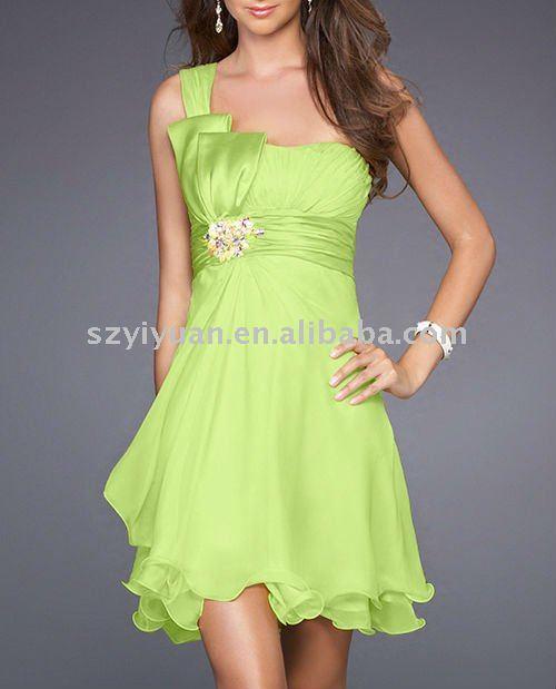 robe de soiree vert anis pas cher