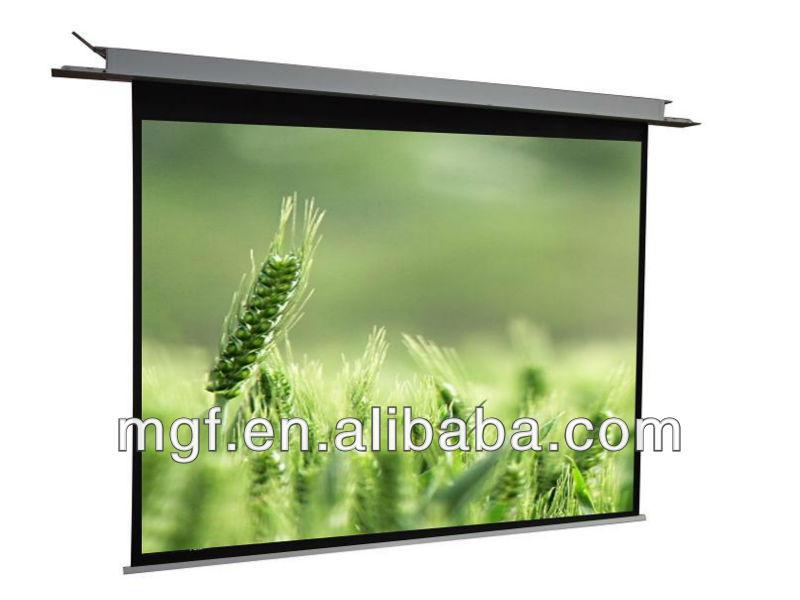150 pouces cran de projection lectrique plafond suspendu de l 39 cran du projecteur ecran de. Black Bedroom Furniture Sets. Home Design Ideas