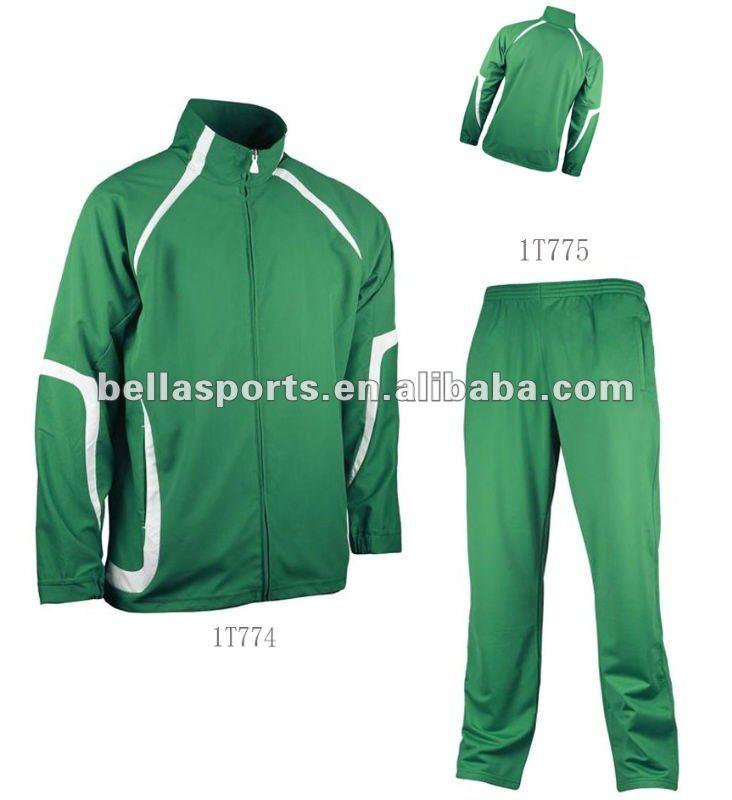 Спортивный костюм черно-зеленый мужской