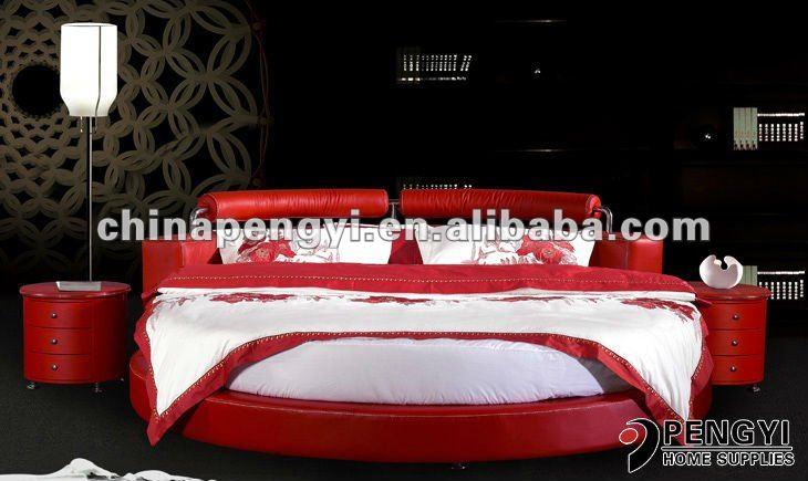 hot vendre bon march en vente py 011c lit rond literie id du produit 532572554. Black Bedroom Furniture Sets. Home Design Ideas