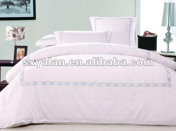 100 brod h tel linge de lit en coton de luxe set. Black Bedroom Furniture Sets. Home Design Ideas