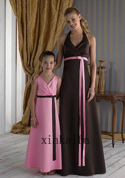 New Modern Wedding Dresses Bridesmaid Dresses Brown And Pink