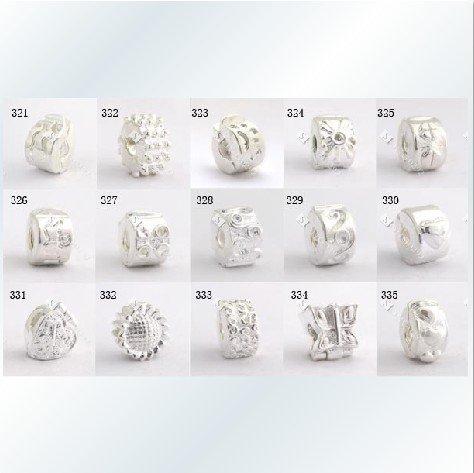 Biagi Bracelets On 925 Silver Stopper Beads Charms Fit Mix Style 200pcs