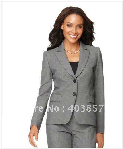 Women's Suit Beige Women Suit One Button Blazer & Classic Pencil ...